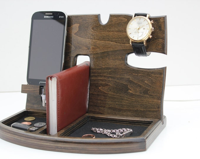 Phone Docking Station,Gift for men,Fathers Day Gift,Gifts for Boyfriend,Birthday Gifts For Men,Gifts For Husband,groomsmen gift,gift for Him