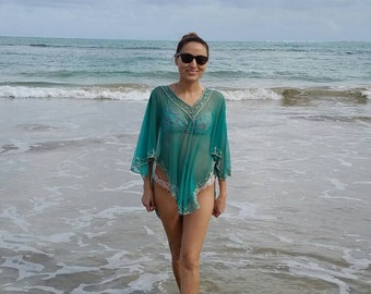 Jungle Green Cover-Up/Beach Wear