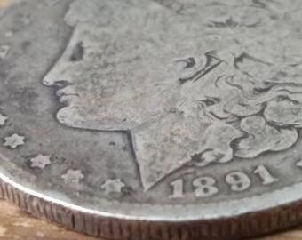 1891 O Morgan  Silver  dollar.  #m298