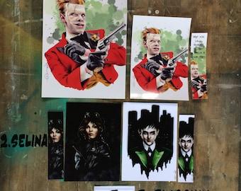 Gotham : Selina Kyle ( Camren Bicondova) Oswald Cobblepot (Pingouin,Robin Lord Taylor)Jerome Valeska aka Joker ( Cameron Monaghan) fanart