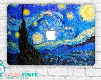 "Van Gogh Picture ""Starlight Night"" MacBook Decal Macbook Pro Stickers Macbook Skin Macbook Pro Vinyl Cover Macbook Laptop Skins Decal MB252"