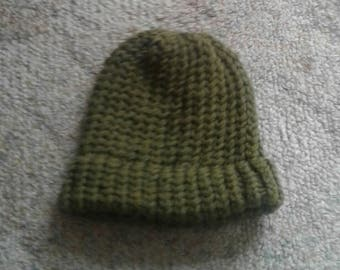 100% New Zealand Wool Adult Beanie - Green