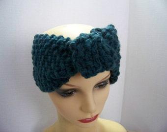Wide headband (teal) #4