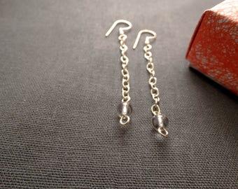 Clear Quartz earrings, Clear gem earrings, Gemstone earrings, Dangle earrings, Quartz earrings, Quartz drop earrings, Simple earrings