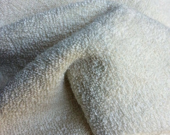 """Organic Unbleached Natural Bamboo Double Loop Terry Cloth Fabric - By the Yard - 36 x 61"""""""