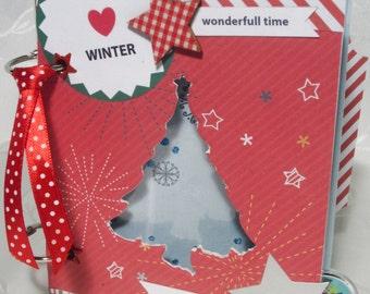First baby Christmas album 4x6 album Desember daily Mini album Christmas scrapbook  Christmas gift Season album