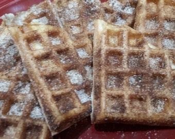 Cinnamon Sugar Protein Waffles