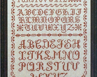 Olde Alphabets in Red Stamped Sampler Kit by Country Stitches