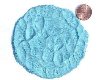 Crushed Turquoise Stone Inlay, Lab Created, Powder, 1/2 Ounce