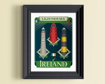 Ireland print | Irish gifts | Ireland art | Ireland poster | Dublin | Dublin Ireland | Ireland skyline | St Patricks Day | Ireland decor