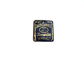 Jack Daniels Pin Metal Enamel Vintage
