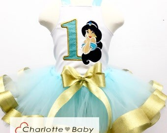 Princess jasmine costume, jasmine tutu, jasmine birthday outfit, jasmine costume, princess jasmine party, aladdin