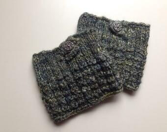 Boot cuffs/hand knit boot cuffs/hand spun yarn