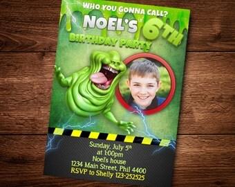 Ghostbusters Invitation Birthday Card, Boy or Girl Birthday Invitation, Customized Birthday Theme, Birthday Invite, Invitation, DIY