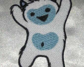 Embroidered Adorable Baby Yeti Kid Snow Monster Horror Patch Iron On Sew On USA