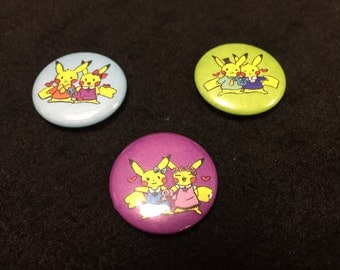 1 inch Sexuality Pikachu Button Set