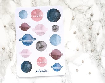 Planets Sticker Sheet