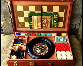 FREE SHIPPING Vintage Roulette Game Set in Case 1940's