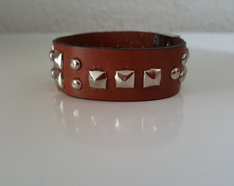 """Wristband leather """"ROCK ME BABY"""": Collection Prestige"""