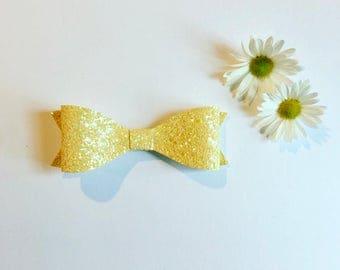 Daisy Glitter Bow Headband or Clip