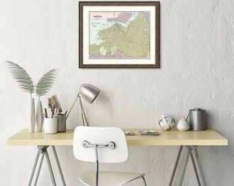 Map of Brooklyn, Map Prints, map poster, vintage map, map on photo paper, map poster prints, old maps, map prints, Brooklyn Poster