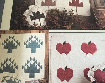 Leisure Arts The Seasons Patchwork Wall Hangings and Pillows designs by Carla Bentley
