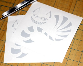 Cheshire Cat Sticker | Alice In Wonderland Decal | Cheshire Cat Decal
