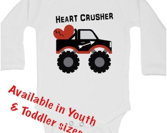 Valentines day shirt, Valentines day outfit, Valentines day baby, Valentines baby boy, Valentines baby girl, Valentines bodysuit,Heart Crush