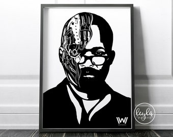 Westworld Print - Bernard/Arnold | A6/A5/A4/A3 Illustration Print | Westworld TV Poster | For Him, For Her
