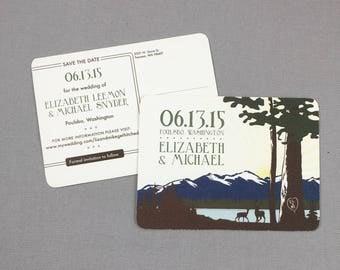 Mount Washington Save the Date Postcards - JA1