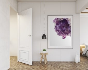 AMETHYST / AMETHYST Art / Crystal Print / Crystal Photography /  Crystal Art / Gem Art / Purple Art / Printable Art / Digital Download