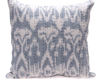 SALE - Grey Ikat Cushion