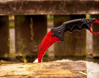 CSGO Karambit Knife Crimson Web Tactical Collectable Knife -  CS GO cs:go knife Karambit Counter Strike