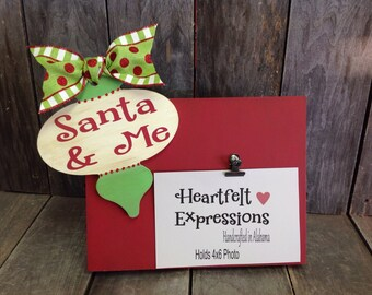 Santa and Me Photo Block 4x6 picture frame