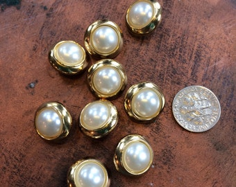 La Mode Pearl and Gold Tone Buttons