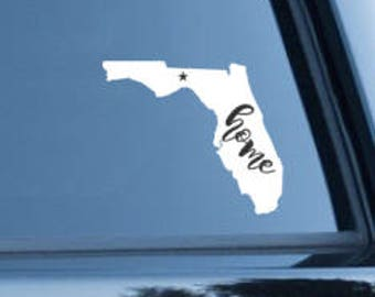 Florida Decal, State Decal, Car Decal, Yeti, Laptop Decal, All Purpose Decal