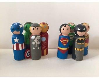 Wooden Superhero Set