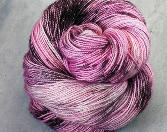 Fingering, Speckled, Hand Dyed Yarn, 80/20 SW Merino Nylon, 100 grams/400 yards *Molly*