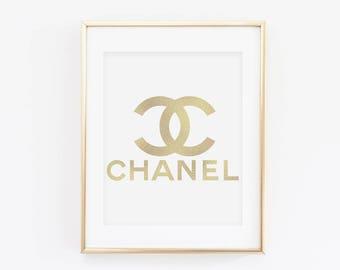 Chanel - Foil Art Print Decor