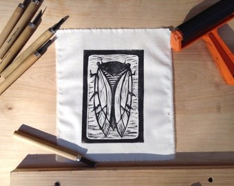 CICADA Print Patch - Linocut Block Print