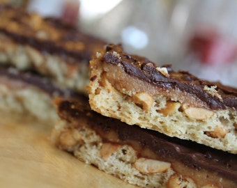 One Dozen Protein Candy Bars- Snickers- Vegan, Vegetarian, Gluten Free, Sugar Free, Paleo, Clean Eating, Protein Bar