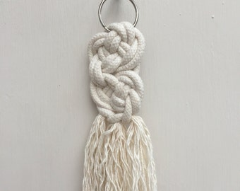 Josephine knot macrame keyring made with 100% cotton