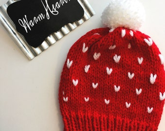 Warm Hearts Slouchy Beanie