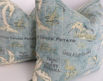 Outdoor/Indoor Pillow Covers- Tommy Bahama Fabrics - Outdoor Pillows - Decorative Pillows- Accent Outddor Pillows
