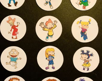 Precut Rugrats Character images to decorate your cupcakes, cookies or cake with.