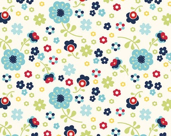 Nursery Fabric, Designer Cotton Fabric, Navy Blue Floral, Quilters Cotton Fabric By Yard, Apparel Fabric, Dress Up Days, Riley Blake Fabric