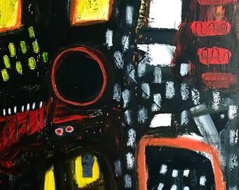 Original Abstract art on Canvas, modern decor, interior design, painting