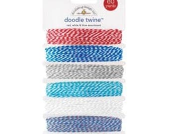 doodlebug design inc.  |  doodle twine  |  Red, White & Blue Assortment | 60 Yards