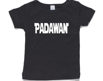 Padawan Baby T-Shirt 100% Cotton white and black 0-24 months sizes funny newborn birth Jedi star wars