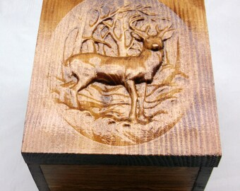 Mothers Day Personalized Deer Gift  Box Engraved